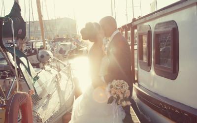 bacio tra le barche