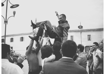 sposo in aria